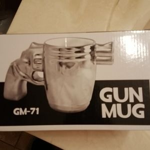 Novelty Chrome Gun Mug